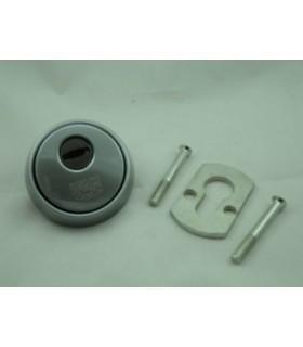 Escudo de seguridad con lenteja antitaladro (Cromado)
