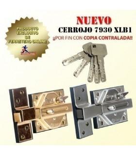 LINCE 7930R - Bump proof heavy bolt door lock - Brass color